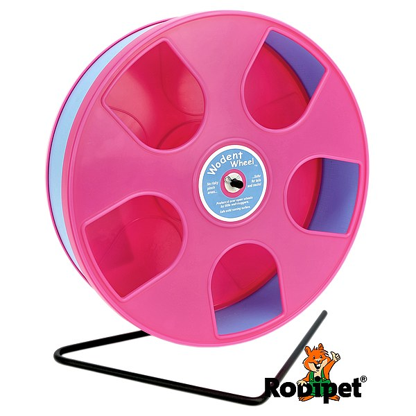 Ø 27 cm Wodent Wheel™ for small Syrian and large dwarf hamsters - pink/light blue