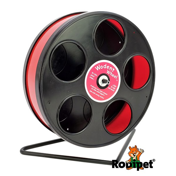 ø 20 cm Wodent Wheel™ for small dwarf hamsters - black/red
