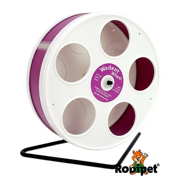 ø 20 cm Wodent Wheel™ for small dwarf hamsters - white/dark pink