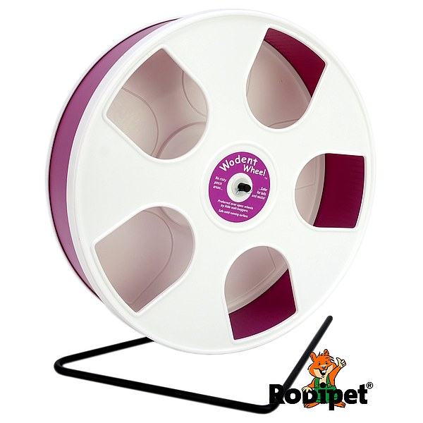 Ø 27 cm Wodent Wheel™ for small Syrian and large dwarf hamsters - white/dark pink