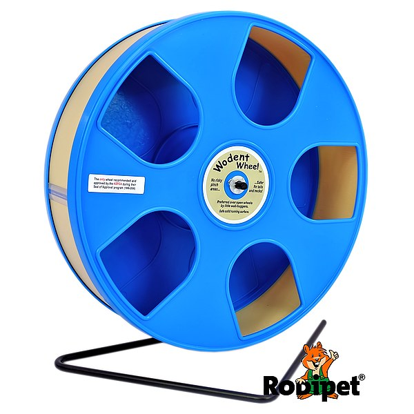 Ø 27 cm Wodent Wheel™ for small Syrian and large dwarf hamsters - blue/beige