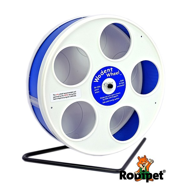 ø 20 cm Wodent Wheel™ for small dwarf hamsters - white/dark blue