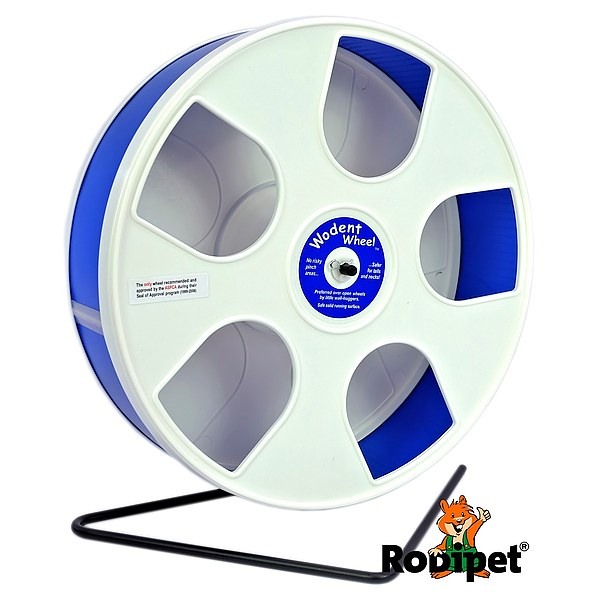 Ø 27 cm Wodent Wheel™ for small Syrian and large dwarf hamsters - white/dark blue