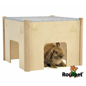 ZooDi® +GRANiT Wooden Rabbit House