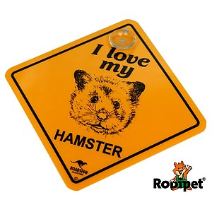 Roadsign - I love my Hamster