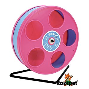 ø 20 cm Wodent Wheel™ for small dwarf hamsters - pink/light blue