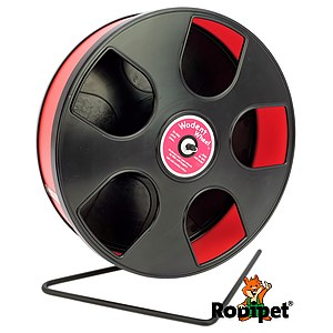 Ø 27 cm Wodent Wheel™ for small Syrian and large dwarf hamsters - black/red