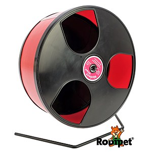 Ø 30 cm Wodent Wheel™ for large Syrian hamsters and gerbils - black/red