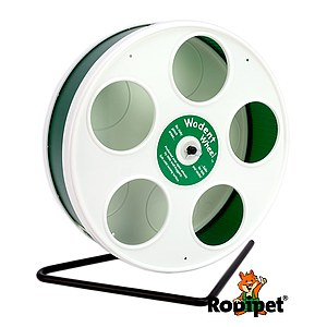 ø 20 cm Wodent Wheel™ for small dwarf hamsters - white/green