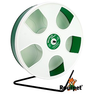ø 27 cm Hamsterlaufrad Wodent Wheel white/green