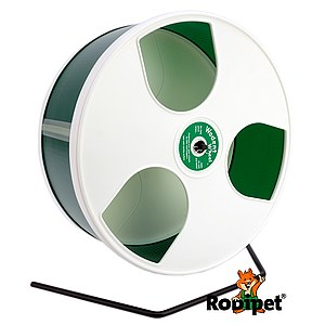 Ø 30 cm Wodent Wheel™ for large Syrian hamsters and gerbils - white/green