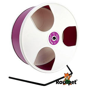 Ø 30 cm Wodent Wheel™ for large Syrian hamsters and gerbils - white/dark pink