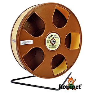 Ø 27 cm Wodent Wheel™ for small Syrian and large dwarf hamsters - brown/beige