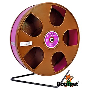 Ø 27 cm Wodent Wheel™ for small Syrian and large dwarf hamsters - brown/pink
