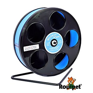 ø 20 cm Wodent Wheel™ for small dwarf hamsters - black/light blue