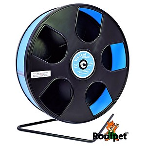 Ø 27 cm Wodent Wheel™ for small Syrian and large dwarf hamsters - black/light blue
